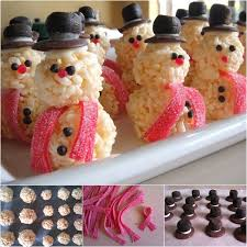 food gifts for christmas wonderful diy rice krispie snowman treats