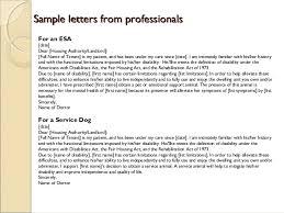 emotional support animal letter template esa prescription letter