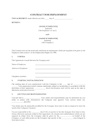 10 best images of new employee agreement template employment