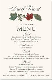 wedding menu cards template menu card template free business template