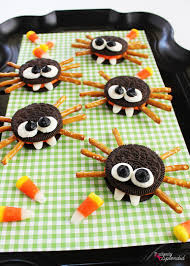 halloween food ideas for kids party oreo cookie spiders recipe halloween food crafts halloween