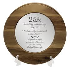25th anniversary plates anniversary personalized wooden plate