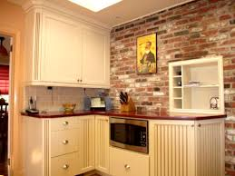 apartments remarkable exposed brick wall kitchen backsplash