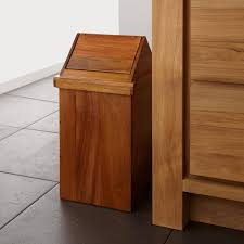 Small Wastebasket by Bathroom Trash Can With Lid Bathrooms Cabinets