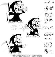 vectors of cute grumpy little monster black and white doodle