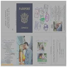 passport invitation template free choice image templates design