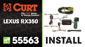 lexus rx 400h towing trailer wiring install curt 55563 on a lexus rx350 youtube