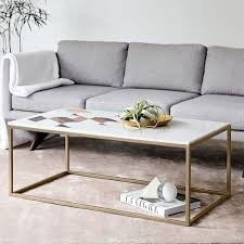 west elm marble coffee table marble coffee table elke rectangular marble coffee table with brass