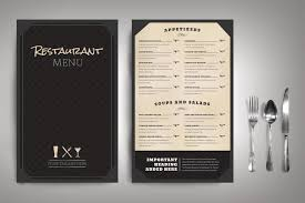 50 best restaurant menu templates both paid and free infoparrot