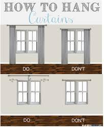 how high to hang curtains thursday s tips tricks how to hang curtains hang curtains
