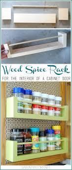 diy kitchen cabinets kreg diy wood spice rack burger design llc