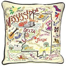 Mississippi kids travel pillow images Mississippi hand embroidered pillow jpg