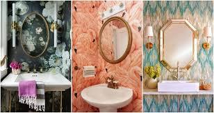 eye catching bathroom wallpaper ideas to break down the boring