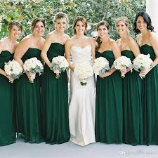 dark green bridesmaid dresses cheap 2017 country style wedding