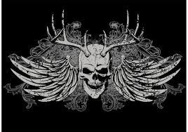 skull t shirt vector design free vector stock