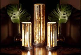 Small Table Lamps by Very Small Table Lamps In Cylinder Brown Fantastic Home Interior