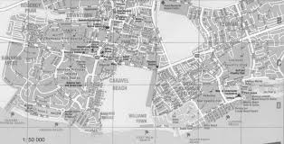 grand map map of freeport and lucaya with streets and detail grand bahama