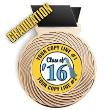 graduation medallion graduation award medals commencement recognition medals