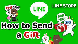 send a gift how to purchase line sticker and send line sticker as a gift