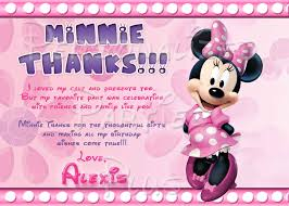 minnie mouse thank you cards mouse thank you cards