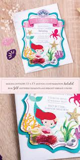 mermaid birthday invitation under the sea birthday party