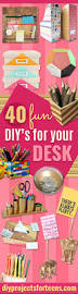 Diy Office Desk Accessories by 40 Fun Diys For Your Desk Diy Projects For Teens