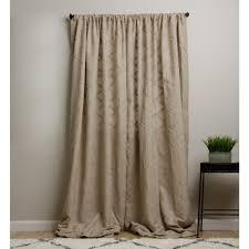 Brown Linen Curtains Aligning Corners Linen Curtain Panels