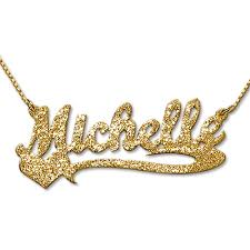 plated name necklace diamond cut gold plated heart name necklace