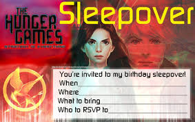 hunger games birthday party invitations invitations for sleepover party