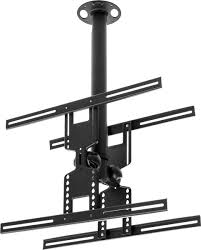 lcd tv ceiling mount dual flat panel with adjustable bracket