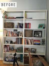 Bookcase With Baskets Design Evolving Diy Painted Bookcase Design Evolving
