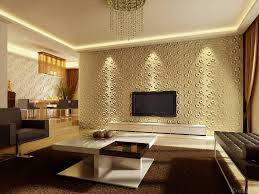tv room with 3d wallpaper design with brown carpet plus lighting