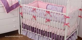 lilac purple crib bedding pine creek bedding