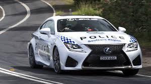 lexus rcf ride quality australia u0027s nsw police gets a lexus rc f cruiser