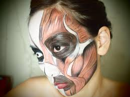 Halloween Skeleton Makeup Faces by Halloween Makeup Exposed Face Muscles Makeup Tutorial Youtube