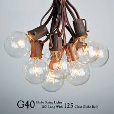 100 ft g40 outdoor patio party globe string lights 100 sockets