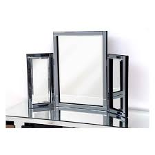 Glass Vanity Table With Mirror Smoke Glass Dressing Table Mirror 78 X 54cm Exclusive Mirrors