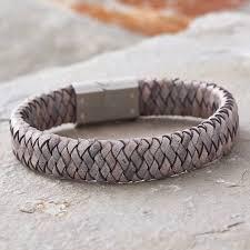 steel leather bracelet images Men 39 s personalised message leather bracelet by hurleyburley man jpg