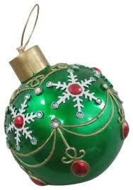 reson led and fiber optic lighted oversized ornament 17