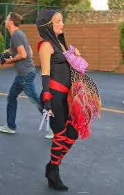 ninja costume for halloween kate hudson in ninja for a halloween party in malibu