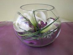 Goldfish Bowl Vase Goldfish Bowl With Calla Lily And Lights For Wedding Table