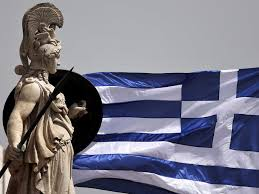 Greek Flag Background Greek Economy Now Growing Faster Than The Uk Business Insider