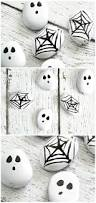 halloween painted rocks easy spider web and ghost craft the