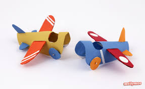 mollymoocrafts toilet roll crafts paper aeroplanes