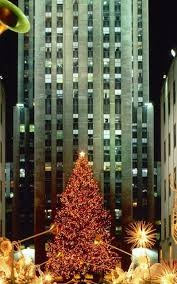 christmas in new york tree lights android wallpaper best andro