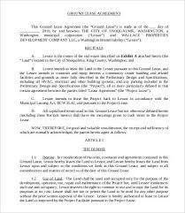 land lease agreement template land lease agreement template 8 free word pdf documents