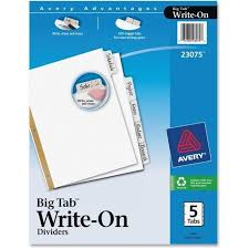 avery big tab template template idea