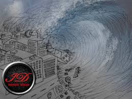 how to draw a tsunami giant wave youtube