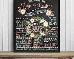 baby shower chalkboard baby shower chalkboard sign etsy