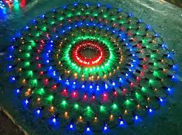 round circle multi color led net lights led christmas holiday